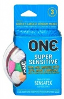 'ONE' SUPER SENSITIVE PK OF 3 CONDOMS