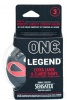 'ONE' LEGEND EXTRA LARGE PK OF 3 CONDOMS
